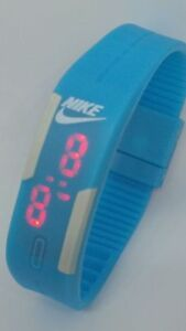 Stock 10 Blue adjustable Nike LED Digital Watch SILICONE BAND Wristwatches