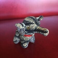 Small Antique Vintage Stuffed Elephant Well Loved Made in Japan, So Cute & Tiny!