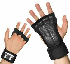 Cross Training Gloves with Wrist Support for WODs,Gym,Workout Black (Large)