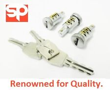 DOOR LOCK 3 BARREL & KEY SET FOR LAND ROVER DEFENDER MTC6504 - NEW 90 110