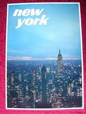 ORIGINAL 1960's NEW YORK CITY USA VINTAGE NY TRAVEL POSTER