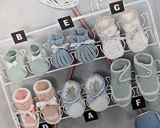 Vintage Knitting Pattern Baby Bootees & Slipper Approx. 0-6 months 3 Ply S122