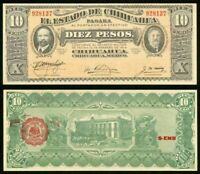 1915 Currency Series J State of Chihuahua Mexico 10 Pesos Banknote P# S534b