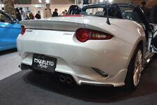 For Mazda MX5 ND Miata Roadster ESQ Style Carbon Rear Spoiler Wing Lip addon kit
