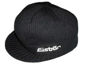 Eisbar black knit cap beanie one size unisex hat