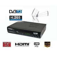 Tempo 4000 DVB-T2 Receiver terrestrisch HD USB H.265 kompatibel für neue Kanäle