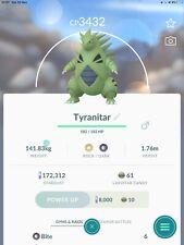 Pokemon Go - LEVEL 35 over 3000 CP Tyranitar (super rare) trade (not shiny)