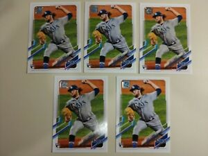2021 Josh Fleming Topps Series Two Rookie Baseball Cards - 6 Cards