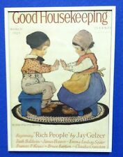Vintage Good Housekeeping Magazine Cover March 1928 Artist: Jessie Willcox Smith