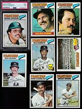 1977 Topps Team SET Lot of 25 New York YANKEES NM+ Reggie PSA 7 MUNSON GUIDRY