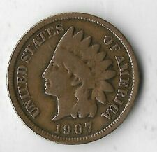 Rare Old Antique US 1907 Indian Head Cent Penny USA Collectible Collection Coin