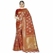 Red Kanjivaram Silk Wedding Designer Saree Indian Ethnic Sari