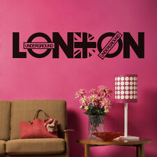 LONDON Quote Words Wall Decal Famous City Name Room Decor Vinyl Sticker