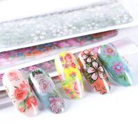 10 pcs NEW Flower Japan Sakura Nail Foil Transfer Decals Manicure Professional
