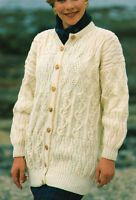 "440 LADIES ARAN LACE JACKET /& WAISTCOAT 32-42/""  VINTAGE KNITTING PATTERN"