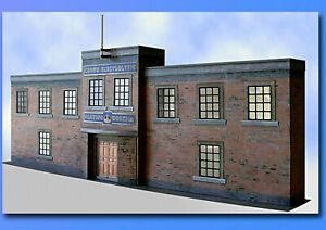 O Gauge 7mm Scale Factory Building Kit, Ideal For Railways, Trams, Cars, 1:43