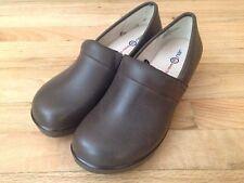 Womens JBU Jambu Cordoba Closed Back Slip On Clog Shoe US 7.5 Med Brown Leather