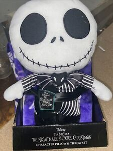 2pc The Nightmare Before Christmas Jack Skellington Throw and Pillow