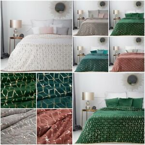 Dekorative Tagesdecke Wohndecke Kuscheldecke Muster Weich Überwurf Überdecke