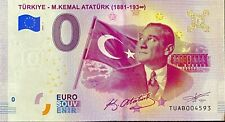 BILLET 0 EURO ANKARA M.KEMAL ATATURK (1881-193°°) TURQUIE  2019-1 NUMERO DIVERS
