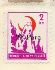 Turkey 1950-52 Early Issue Fine Mint Hinged 20p. Surcharged 085938