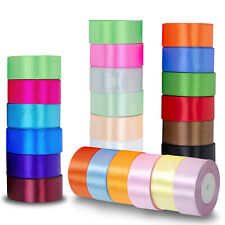 Satin Ribbon Rolls Reel 10mm 25mm 40mm Widths Double Sided 25 Metres Tying Craft