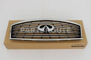 Infiniti M37 M56 Q70 Non Sport Genuine Front Grille Emblem Chrome 62310-1MA0B