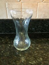 Clear Ribbed Glass Bud Vase