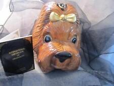 Timmy Woods of Beverly Hills Dog Acacia Wood Handbag/Purse NWT