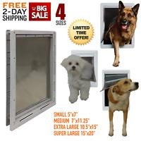 Pet Dog Door Flap Telescoping Frame Gate Secure Luxury Designer Series Plastic