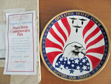 "Nib Hamilton Collection Desert Storm Limited Edition 8.5"" Commemorative Plate"