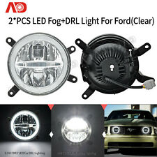 Halo Ring LED Fog DRL Daytime Running Light For 2005-2009 Ford Mustang GT Clear