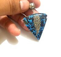Tourmaline & turquoise Arc Angel Wing Protection Healing Orgone Pendant