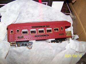 MTH 10-5084 Ives 3-Car Std. Gauge 180 Series Passenger Set  RED CRACKLE ~ NEW