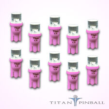 (10 Pack) - 6.3 Volt LED Bulb Flat Top 555 Base (T10) Pinball - PINK