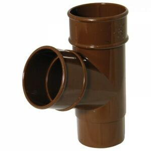 Floplast Round Brown 112mm Gutter and 68mm Downpipe Clips Brackets & Accessories