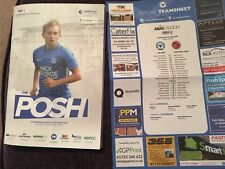 Peterborough United V Fleetwood Town Football Programme And Teamsheet 2018