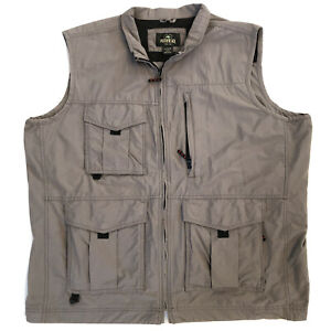 Redhead Mens XL Fishing Vest Multiple Pockets Mesh Lining Cotton Nylon 74747