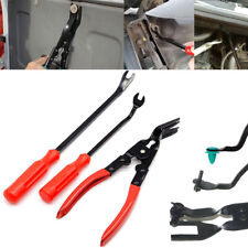 3Pcs Steel Car Door Trim Panel Clip Removal Pliers & Fastener Remover Repair Kit
