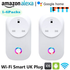 WiFi Smart UK Plugs Sockets Outlet Remote Control With Amazon Alexa Google Home