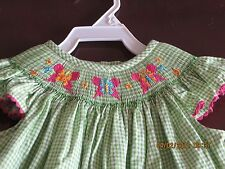 Vive La fete Girl Smocked angel sleeves Butterflies 3T Just arrived NWT Gorgeous