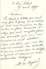 LE MARQUIS MELCHIOR DE VOGÜE / ARCHÉOLOGUE ET DIPLOMATE