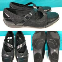 Womens LIFE STRIDE 'Sprack' Black Mary Janes Loafers Pumps Shoes SIZE 7.5 Wide