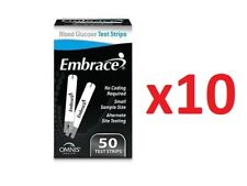 Omnis Health Embrace Blood Glucose Diabetic Test Strips 500 CT (50CT X10)EXP7/19