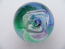 Caithness   Moon  Crystal   Bluey  Green  Glass  Paperweight  Signed Height  2""