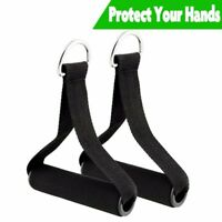 Pull Handles Resistance Bands Foam Replacement Fitness Black For Yoga Exercise
