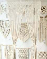 1 Set Of 2 Curtain Handmade Macramé Large Curtain For Decoration Wall Arch