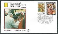 1984 VATICANO VIAGGI DEL PAPA RITORNO A ROMA DAL CANADA - SV