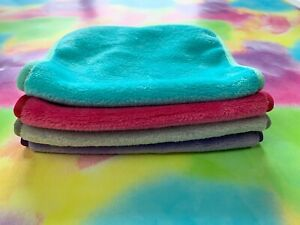 4 Pack Makeup Remover Facial Cloth Towels, Soft Reusable & Chemical Free