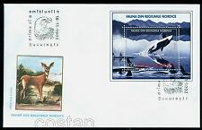 1992 Whale,Orca,Wale,Baleine,Orcinus Orca,Balena,Sea animals,Romania,Bl.278,FDC